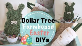 DIY DOLLAR TREE SPRING FARMHOUSE DECOR | BUDGET FRIENDLY EASTER DECOR