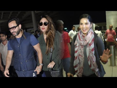 Airport Spotting 31st May 2016 | Sunny Leone, Saif Ali Khan, Kareena Kapoor, Siddharth