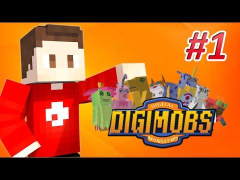 Minecraft Digimobs #1 | Digital World?
