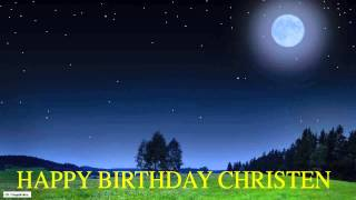 Christen  Moon La Luna - Happy Birthday