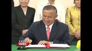 Lao NEWS on LNTV: New head appointed for Overseas Lao Affairs Department.15/10/2014
