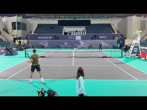 Djokovic - Kachanov Practice MWTC 2018