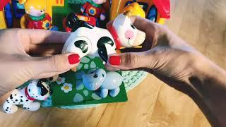 """Обзор игрушек фирмы """"TOLO"""".  Домик,  фигурки человечков и животных"""