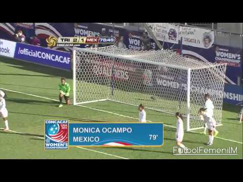 México Vs Trinidad & Tobago Premundial Femenil USA 2014