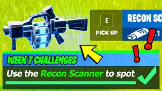 Use the RECON SCANNER to spot an enemy player (WORKING LOCATION) - Fortnite