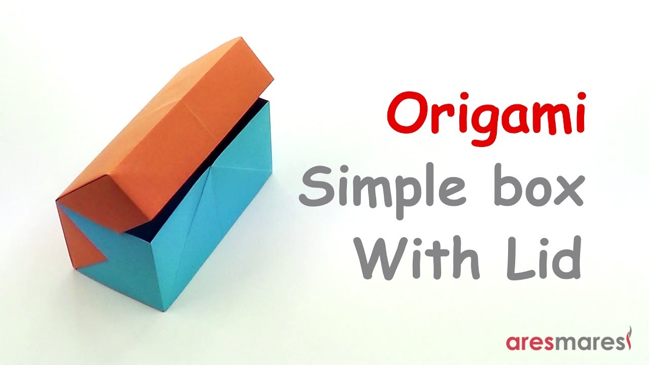 How to Make Origami Box with Lid « Origami :: WonderHowTo | 720x1280