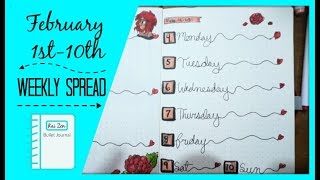 February Weekly Spread 2019   ASMR Vibes   Zen Chini Vlogs