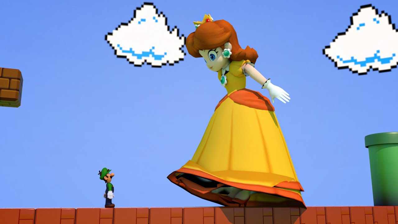 Princess Daisy eats a Giant Mushroom and then this happened