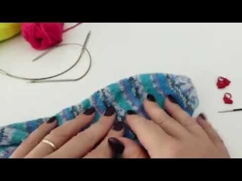 Propllerspitze für Socken stricken mit dem Addi Sockenwunder