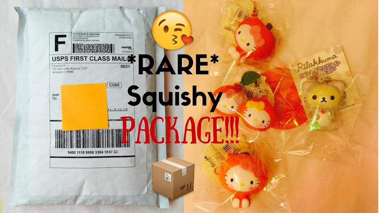 Rare Squishy Package : *RARE* CHARMSLOL SQUISHY PACKAGE!! - YouTube