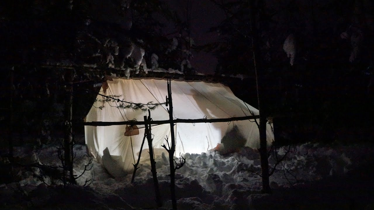 Canada Winter Camping - YouTube