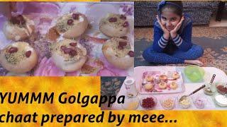 How to make Dahi golgappa chaat, dahi puri, recipe for kids.