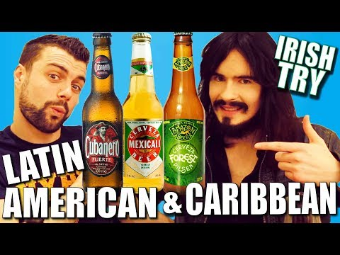 Irish People Taste Test Latin American & Caribbean BEERS!! - Mexico / Brazil / Cuba