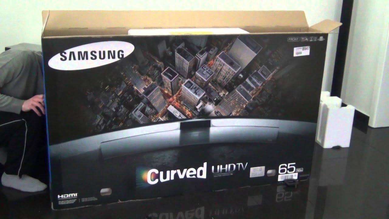Samsung Ue 65 Hu 8590 Curved Uhd Tv 3600 Unboxing Youtube