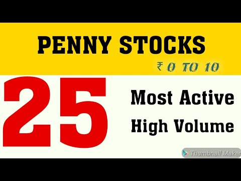 25 Most active High Volume Penny Stocks 2020