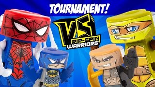 Superheroes VS Rip-Spin Warriors Tournament #3 with Spiderman, Batman & More by KIDCITY