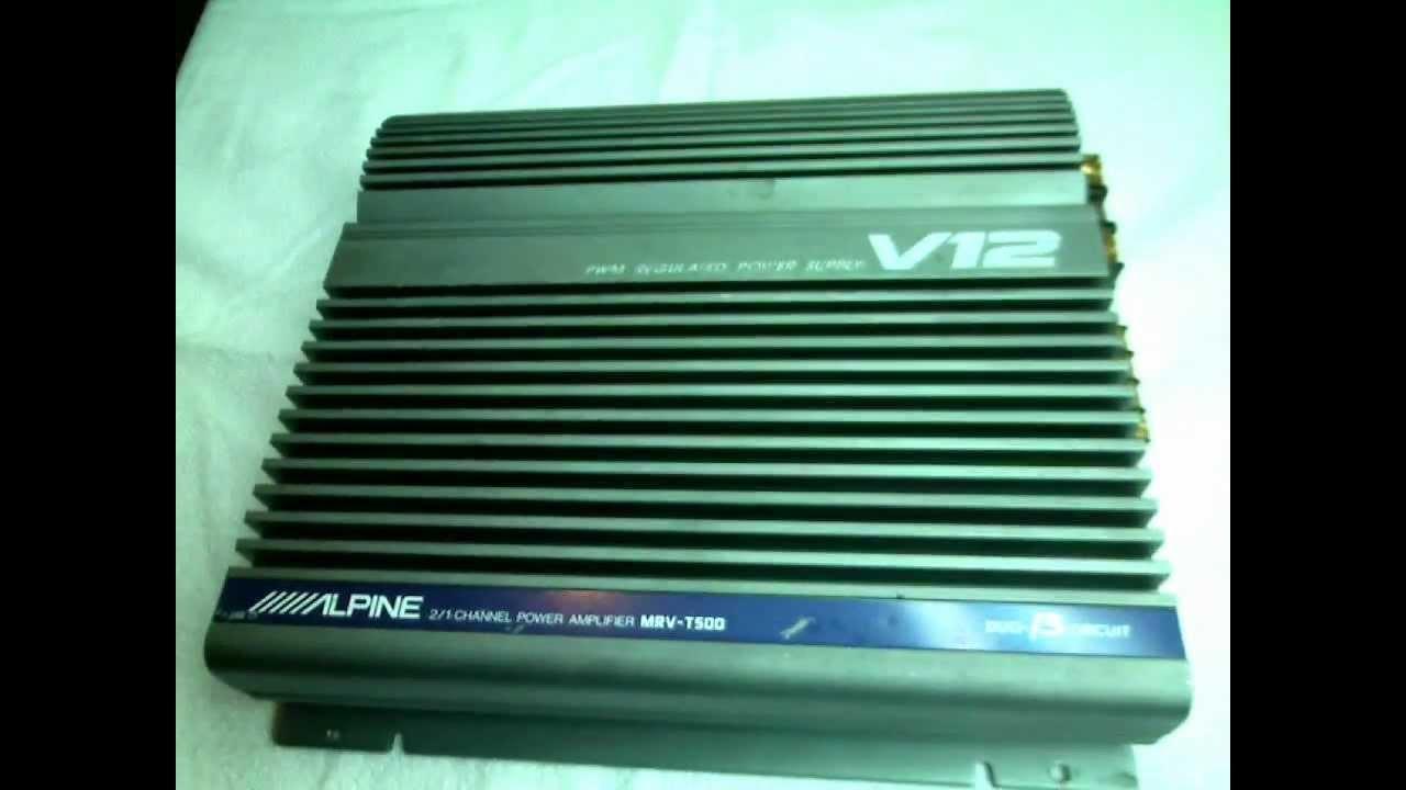 Alpine MRV T500 V12 Amplifier Old School Amplificador YouTube