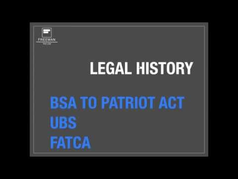Tax Law History - Bank Secrecy Act and Patriot Act