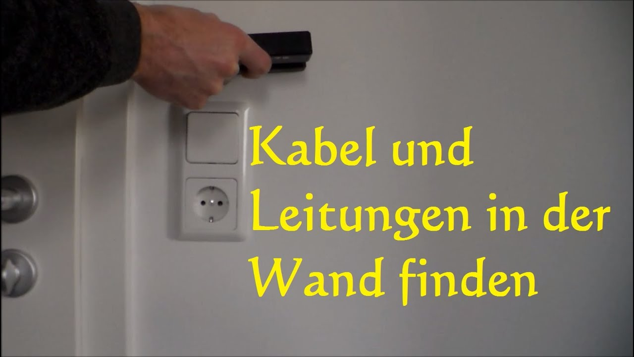 wie finde ich stromleitungen in der wand kabel wasserleitung angebohrt youtube. Black Bedroom Furniture Sets. Home Design Ideas