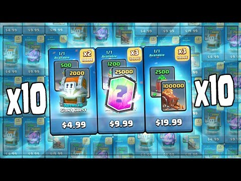 OPENING x10 NEW CHEST OFFERS! TOUCHDOWN CHEST OFFER OPENINGS! | Clash Royale | LEGENDARY PLEASE!