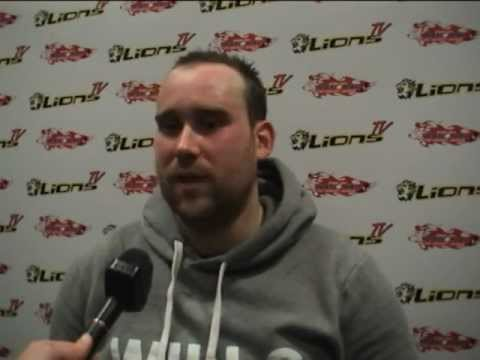 LionsTV - Post-Game Interview with Nottingham Lions' Jonny Bell - Lions 2 Metros 0 - 12-02-2012