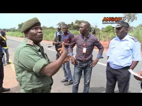 La via dans  la frontière entre Lunda Norte, et la République Démocratique du Congo (RDC)
