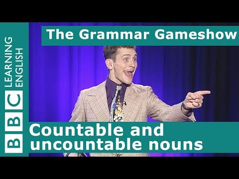Countable and uncountable nouns: The Grammar Gameshow Episode 27