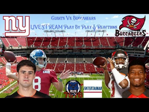 New York Giants Vs. Tampa Bay Buccaneers LIVE STREAM Reaction & Play By Play #DannyDimes