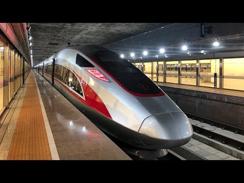 217 mph China to Hong Kong High Speed Rail Train - 4K uncut