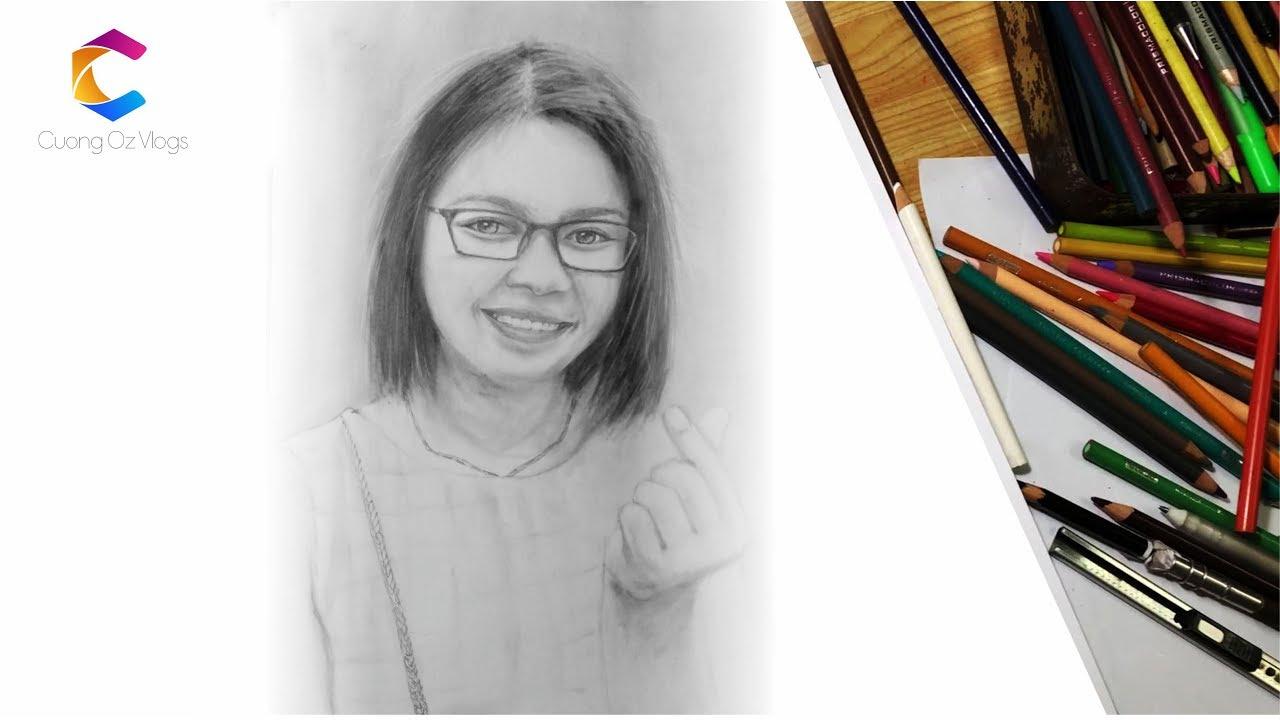 hướng dẫn vẽ chân dung nữ đơn giản