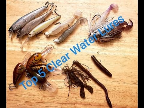 Best Lures For Clear Water Bass (SPRINGTIME)
