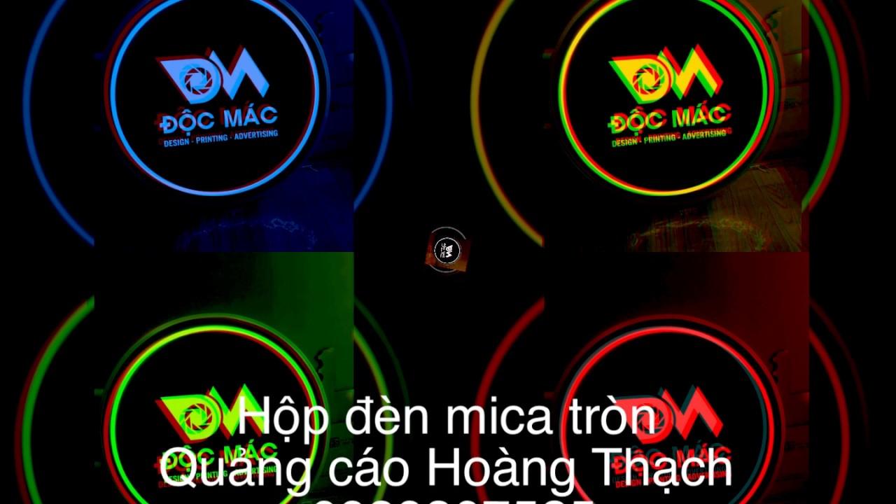 Hộp đèn mica tròn – Hộp đèn quảng cáo rẻ đẹp tại tphcm