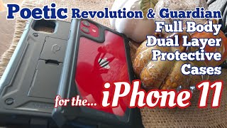 Iphone 11 Poetic Revolution & Guardian Dual Layer Protective Cases W/bulit-in Screen Protector