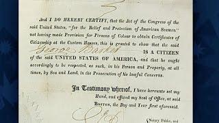 1821 U.S. Citizenship Certificate | Celebrating Black Americana Preview