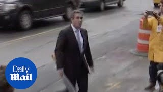 Trump lawyer Michael Cohen arrives at court in NYC - Daily Mail thumbnail