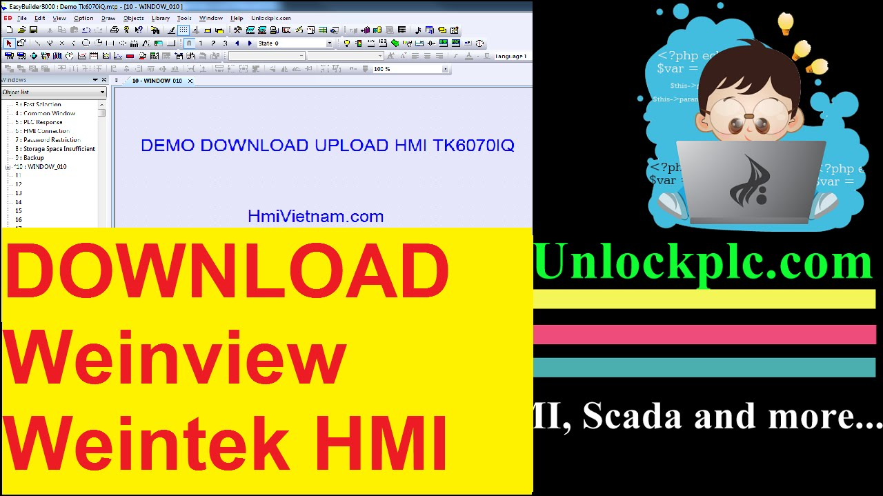 How to upload an hmi project into a pc/usb/sd card (weintek.
