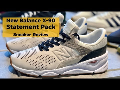 Sneaker Review: New Balance X-90 Statement Pack (Stylish & Luxe Chunky Sneaker) thumbnail
