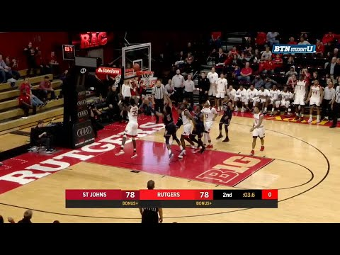 Exciting Finish for Rutgers Over St. Johns