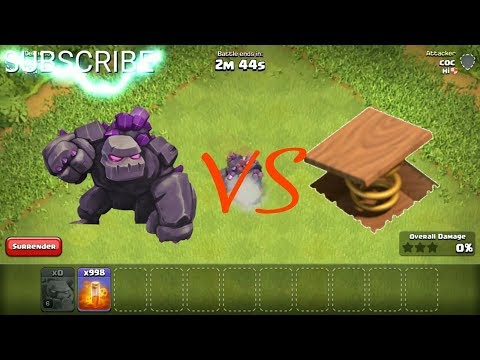Golem Vs Spring �9 : Trap | Clash of Clans