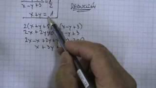 Sistemas de ecuaciones 2x2 método reducción 03