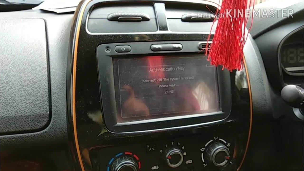 Renault Kwid Media Navigation Player Authentication Key Problem