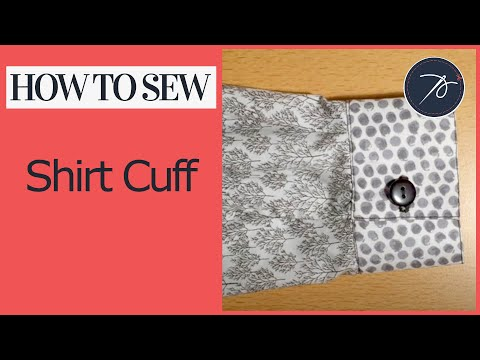 How to create a Shirt Cuff with a  continuous lap