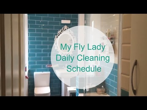 My Fly Lady Daily Cleaning Schedule