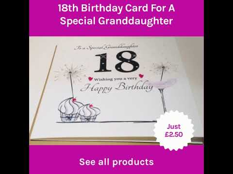 18th Birthday Card For A Special Granddaughter