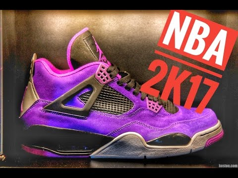 2019 Outlet A0788 84fb8 Custom Jordan 4s NBA 2k17