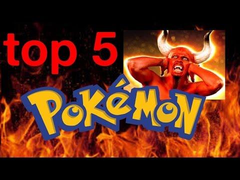 #NEGAS - TOP 5 POKEMONES DEL DIABLO