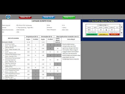 Video Tutorial Penggunaan Input Raport Kurikulum 2013 Sm Smp Mts Sma