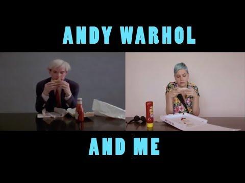 Andy Warhol eats a Burger and Barbara Mihályi eats a Pizza
