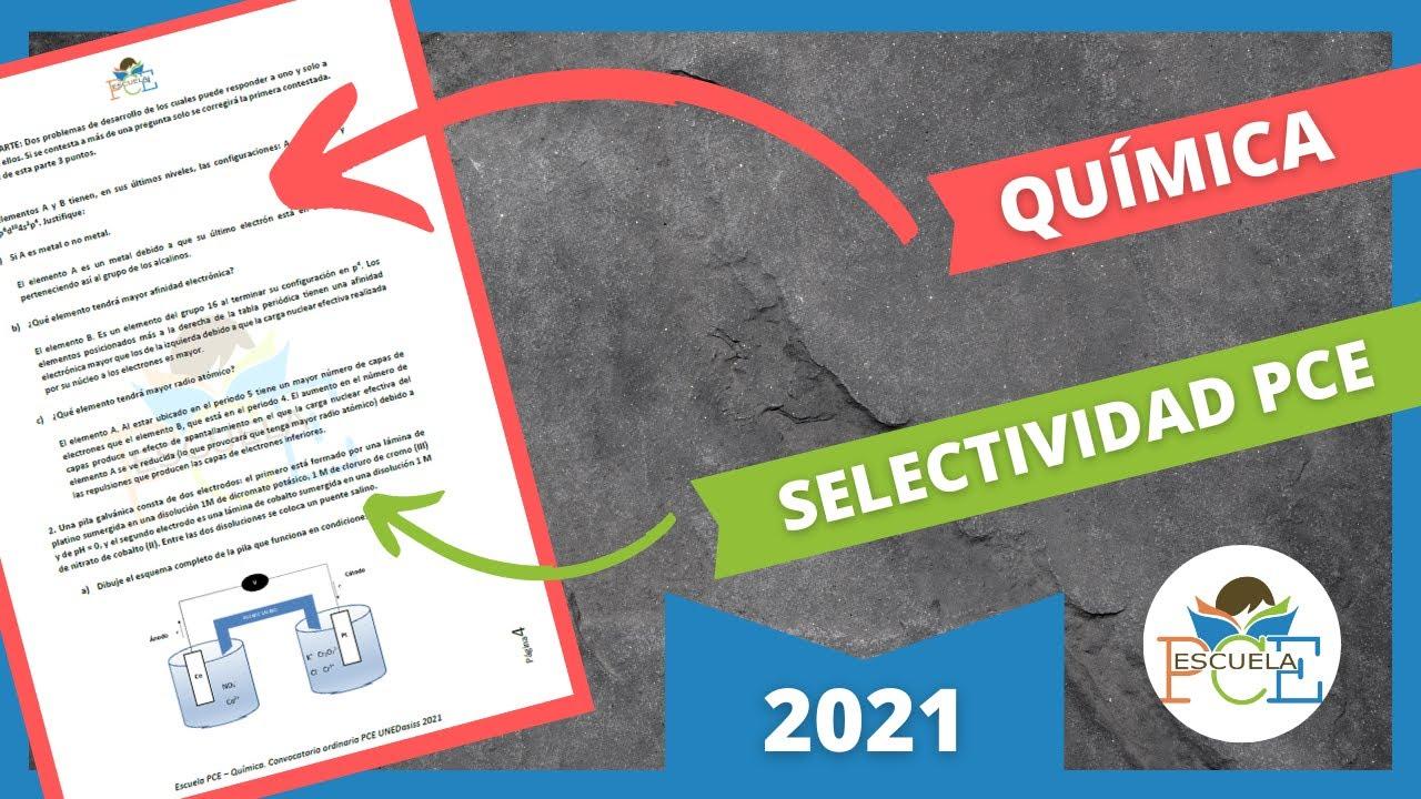 Download ✔️ EXAMEN SELECTIVIDAD PCE QUÍMICA 2021 RESUELTO