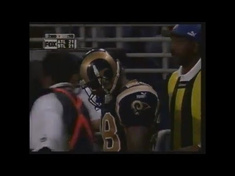 [Highlights] In 2000, the Falcons and Rams combined for a wild and wacky game with 74 combined points, Back-to-back kickoff return scores, 6 2-Point Conversion Attempts, 10 touchdowns, and a partridge in a pear tree